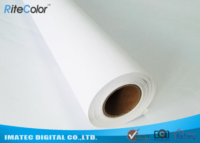 Super White Eco Solvent Media , 380gsm Digital Printing Matte Cotton Canvas For Roland