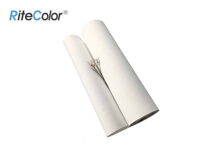 320g Inkjet White Polyester Fabric Roll / Art Print Canvas With Eco Solvent Inks
